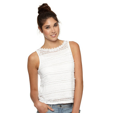 H! by Henry Holland - Designer white pleated lace top