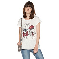 H! by Henry Holland - Ivory tweet me t-shirt