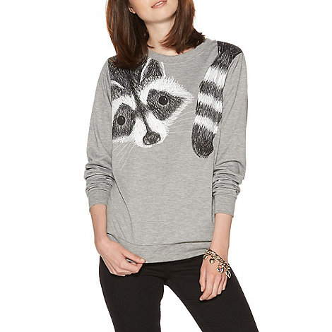 H! by Henry Holland - Grey Wrapped Racoon Jumper