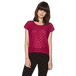 H! by Henry Holland - Raspberry heart lace top