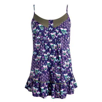 Purple tulip print camisole