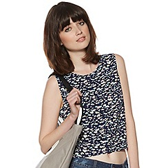H! by Henry Holland - Designer navy heart print top