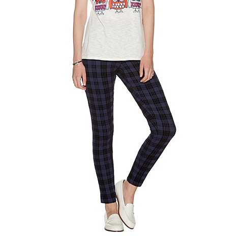 H! by Henry Holland - Navy check leggings