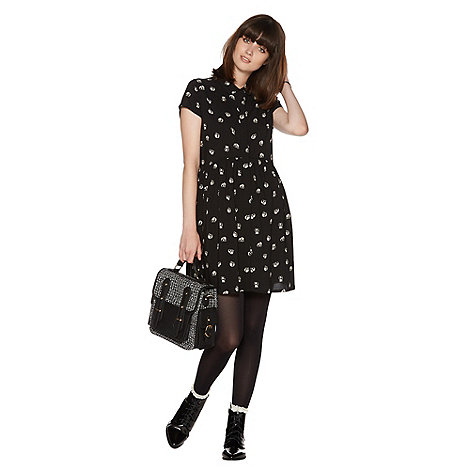 H! by Henry Holland - Black panda print shirt dress