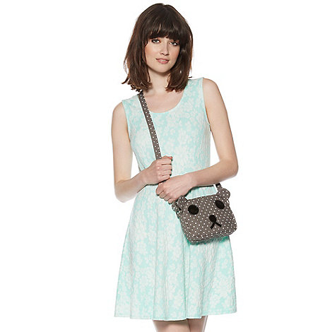 H! by Henry Holland - Designer mint jacquard floral dress