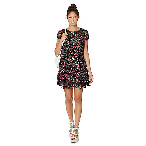 H! by Henry Holland - Black cat and daisy print dress