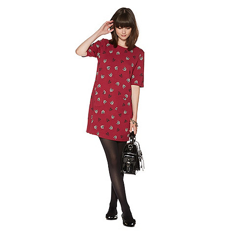 H! by Henry Holland - Raspberry badger print tunic dress