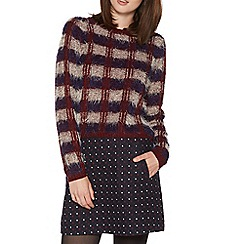 H! by Henry Holland - Maroon eyelash knit jumper