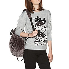 H! by Henry Holland - Grey stacked cats jumper