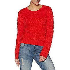H! by Henry Holland - Designer orange bobble jumper