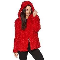H! by Henry Holland - Curly Red  faux fur Coat