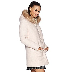 H! by Henry Holland - Pastel pink boucle coat