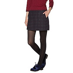H! by Henry Holland - Navy cube mini skirt