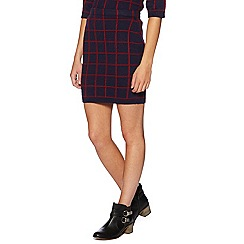 H! by Henry Holland - Check me out navy grid print skirt