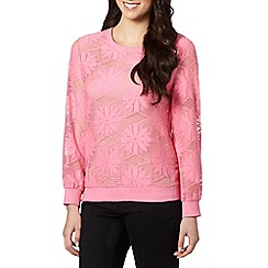 H! by Henry Holland - Designer pink lace sweater
