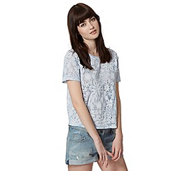 H! by Henry Holland - Designer light blue floral lace top