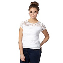 H! by Henry Holland - Designer ivory lace top