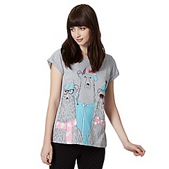 H! by Henry Holland - Designer grey polar bear glitter t-shirt