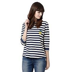 H! by Henry Holland - Designer navy stripe pineapple top