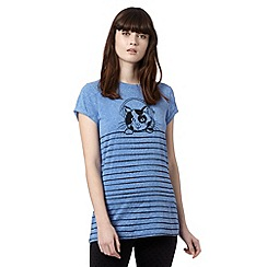 H! by Henry Holland - Designer blue striped cat t-shirt