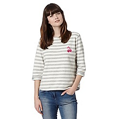 H! by Henry Holland - Designer grey stripe cherry top