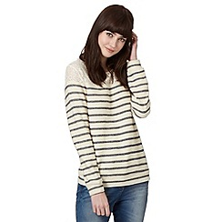 H! by Henry Holland - Designer ivory cut and sew lace striped jumper