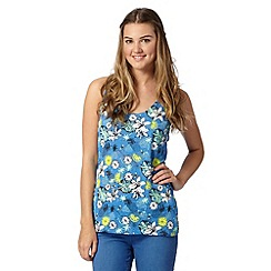 H! by Henry Holland - Designer blue lemon print burnout vest