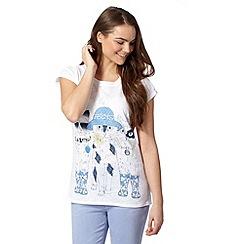 H! by Henry Holland - Designer white festival cat t-shirt