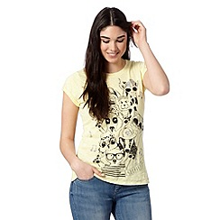 H! by Henry Holland - Designer yellow animal selfie t-shirt