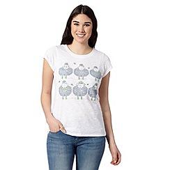 H! by Henry Holland - Designer white sheep print t-shirt