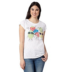 H! by Henry Holland - Designer white fruit print t-shirt