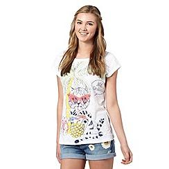 H! by Henry Holland - Designer white tiger resort t-shirt