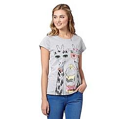 H! by Henry Holland - Designer grey summer giraffes t-shirt