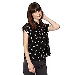 H! by Henry Holland - Designer black unicorn lace shirt