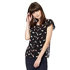 H! by Henry Holland - Designer black funfair print top