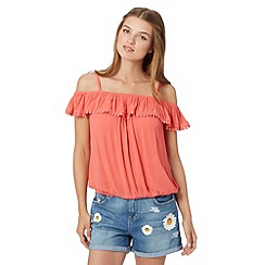 H! by Henry Holland - Designer peach crochet trim cami