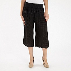 H! by Henry Holland - Navy polka dot cropped palazzo trousers