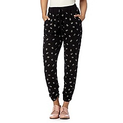 H! by Henry Holland - Black cat print trousers