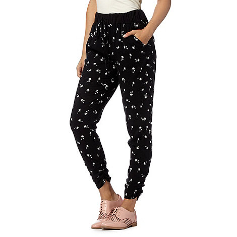 H! by Henry Holland - Designer black palm tree trousers