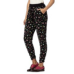 H! by Henry Holland - Designer black floral print trousers