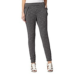 H! by Henry Holland - Designer black textured peg trousers