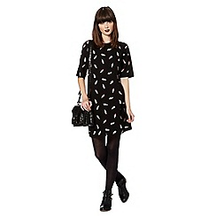 H! by Henry Holland - Designer black ice cream t-shirt dress