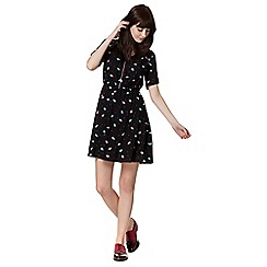 H! by Henry Holland - Designer black fish print dress