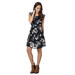 H! by Henry Holland - Designer black mixed wave and flower print dress