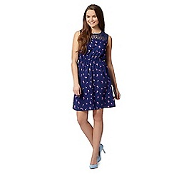 H! by Henry Holland - Designer navy palm print dress