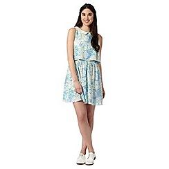 H! by Henry Holland - Designer light blue garden floral dress