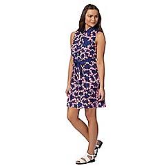 H! by Henry Holland - Designer navy floral shirt dress