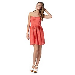 H! by Henry Holland - Peach broderie bandeau dress