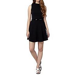 H! by Henry Holland - Designer black textured high neck dress