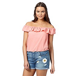 H! by Henry Holland - Designer peach ruffle gypsy top